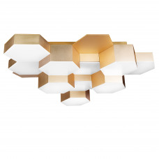 750123 (MX13003032-12А) Люстра потол FAVO LED-60W 2880LM Satin Gold 4000K (в комплекте)