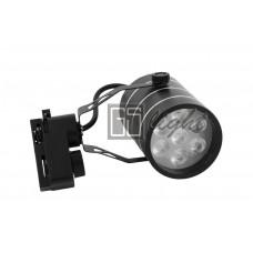 Светодиодный светильник SPOT для трека 7W ЧЁРНЫЙ Day White ECONOM